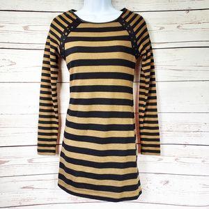 Derek Heart striped stretchy bodycon dress S